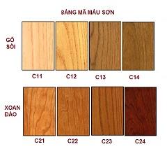 Bảng màu giường gỗ ngăn kéo mã FNG 09