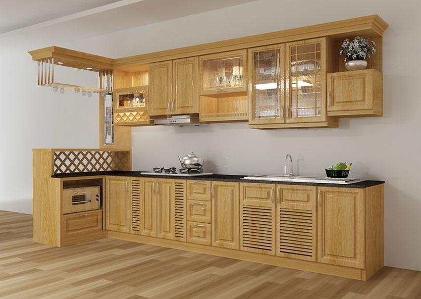 tủ bếp gỗ kết phối màu nội thất cho căn bếp của bạn