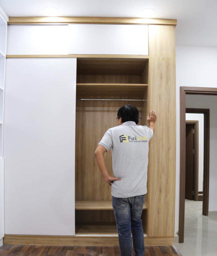 Chi tiết mã tủ quần áo gỗ ép Funismart FNTQA03 bạn nên biết