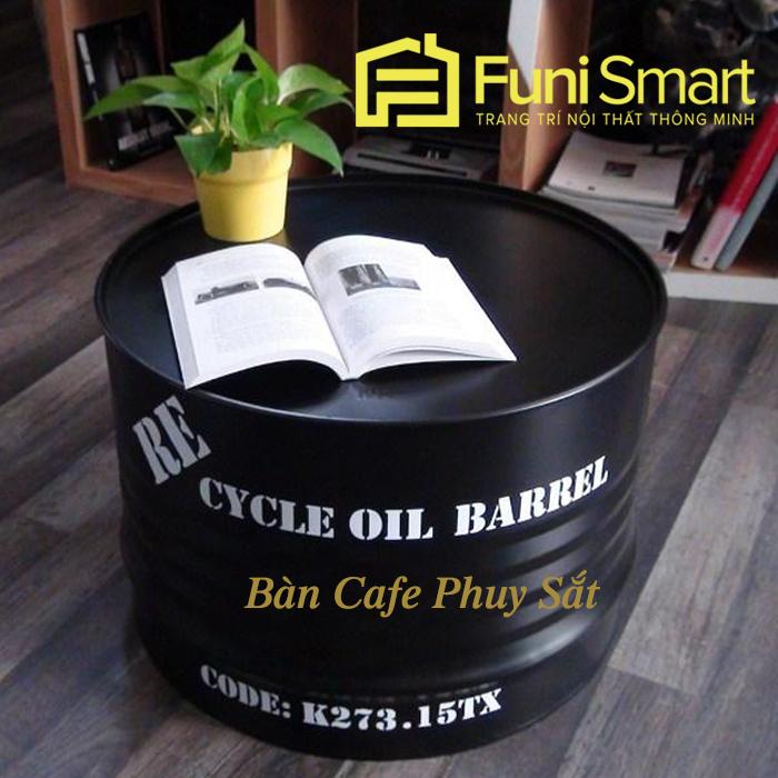 Bàn Cafe Thùng Phuy Sắt Giá Rẻ Nhất tphcm