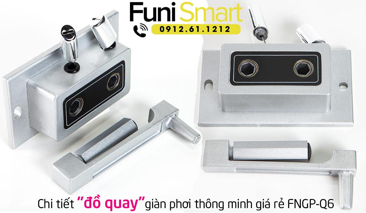 Chi tiết đồ quay giàn phơi thông minh giá rẻ Funismart FNGP-Q6