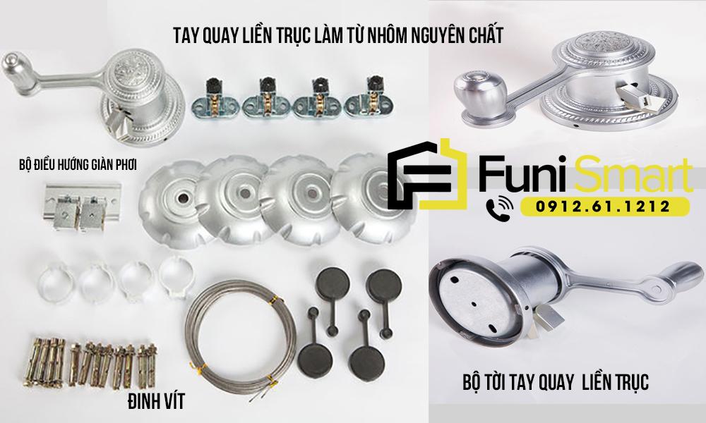 Chi tiết về giàn phơi thông minh giá rẻ FNGP01 từ công ty nội thất Funismart
