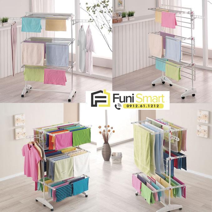 Giá phơi quần áo nhập khẩu từ Hàn Quốc bởi Funismart