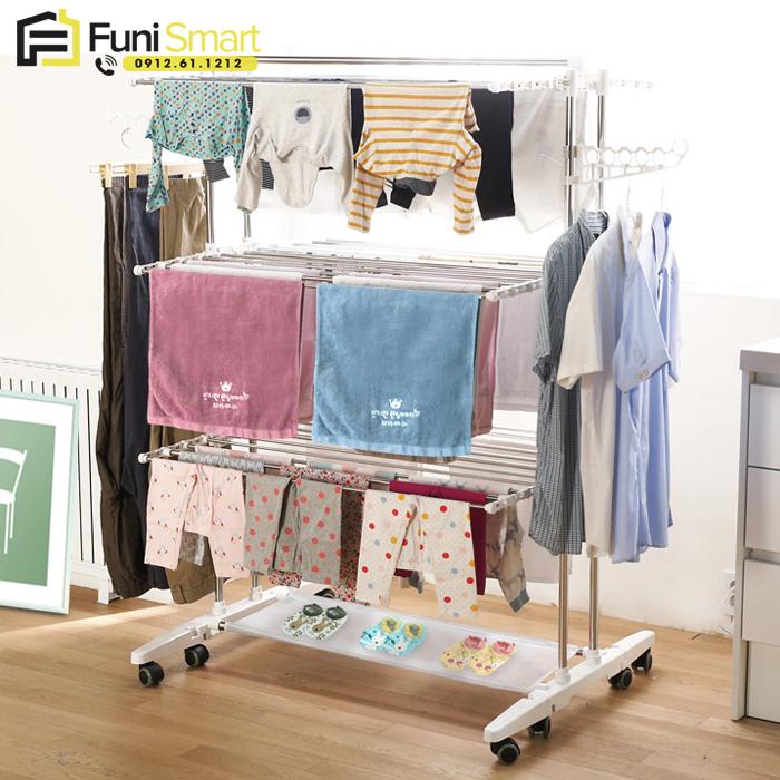 Giá phơi quần áo thông minh kiểu Hàn Quốc FNGP08