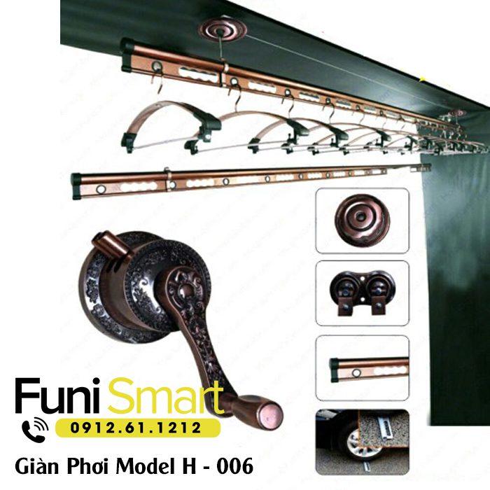 Giàn phơi thông minh cao cấp Funismart FNGP12 (H-006 )