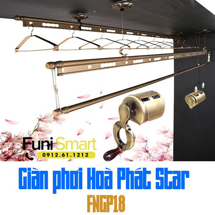 Giàn phơi Hoà Phát Star FNGP18 Rêu Cỏ H-001