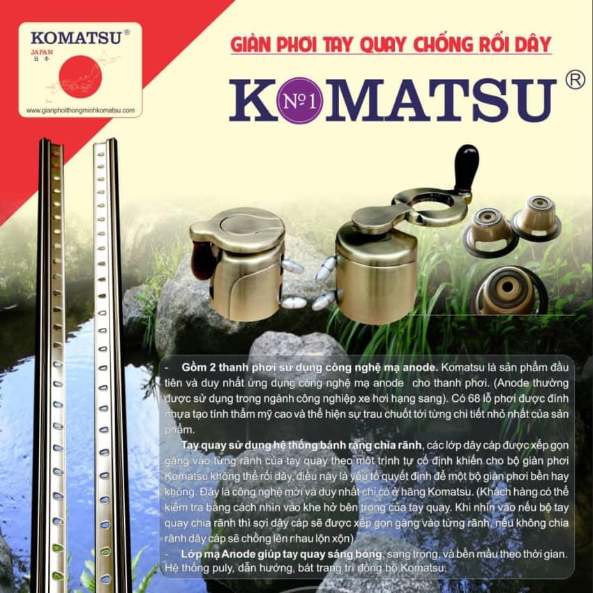 Giàn phơi thông minh Komatsu LUX888-BF