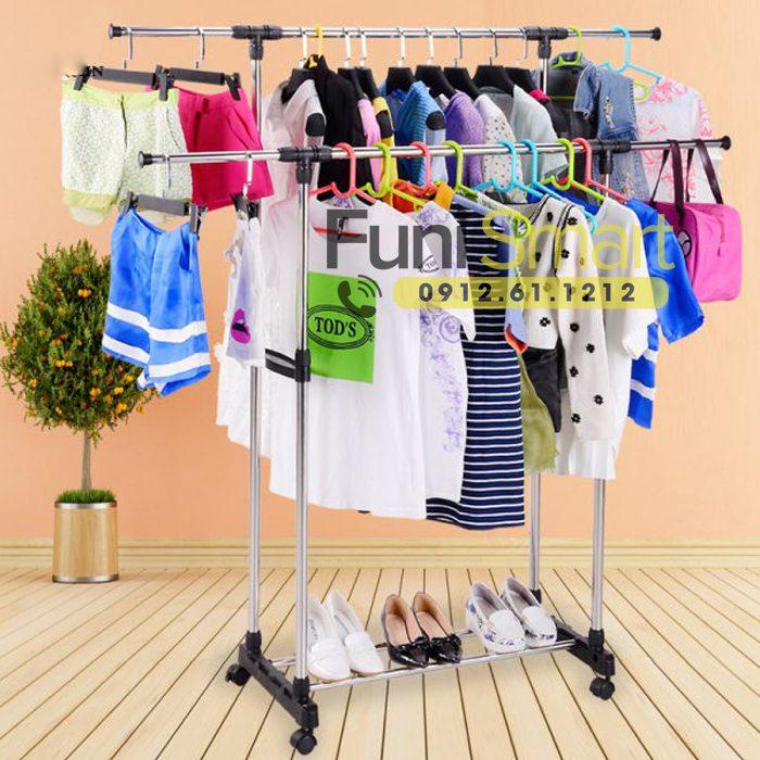 Giàn phơi quần áo 2 tầng Funismart FNGP10