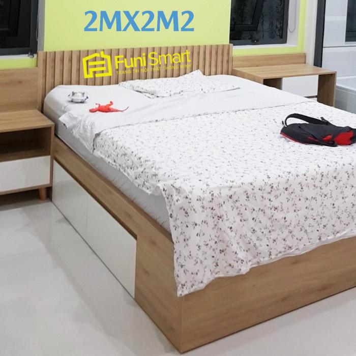 Giường 2mx2m2 giá rẻ FNGN15