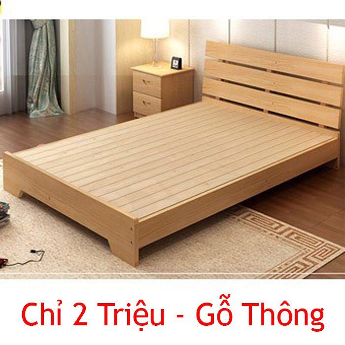 Giường gỗ 2 triệu theo mẫu FNGN2M