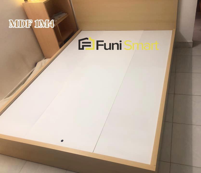 Chi tiết giường gỗ mdf giá rẻ 1m4x2m