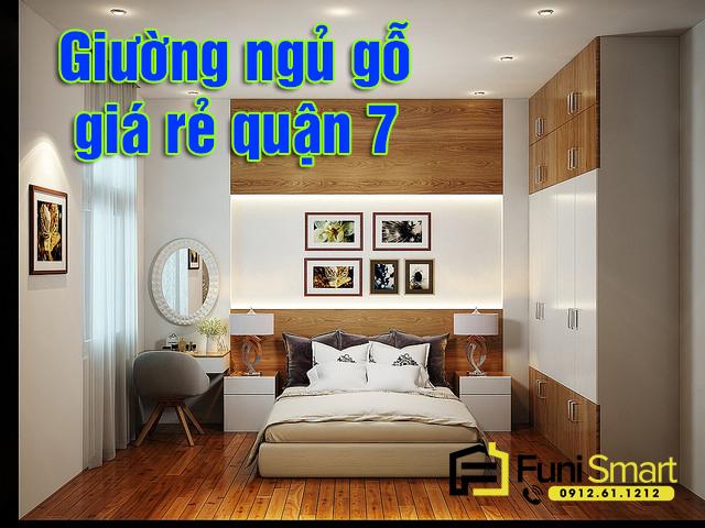 Giường ngủ gỗ giá rẻ quận 7
