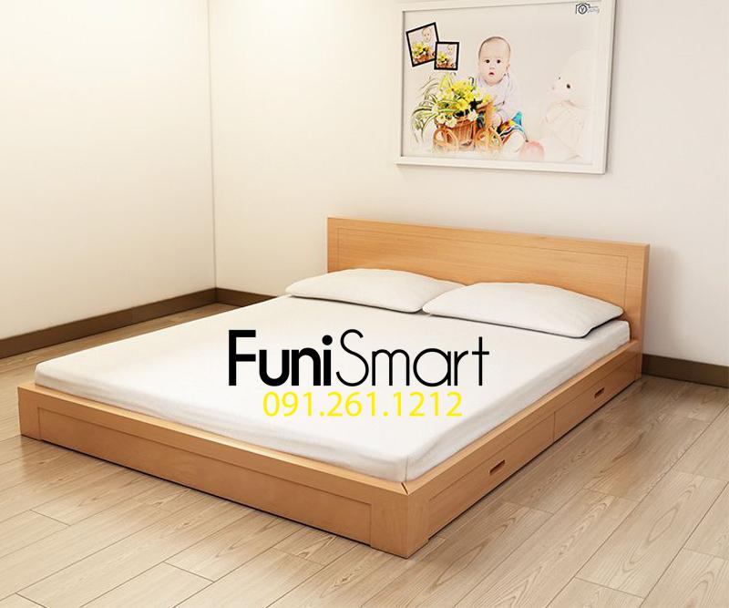 Giường ngủ gỗ mdf giá rẻ FNGN03 đang hot
