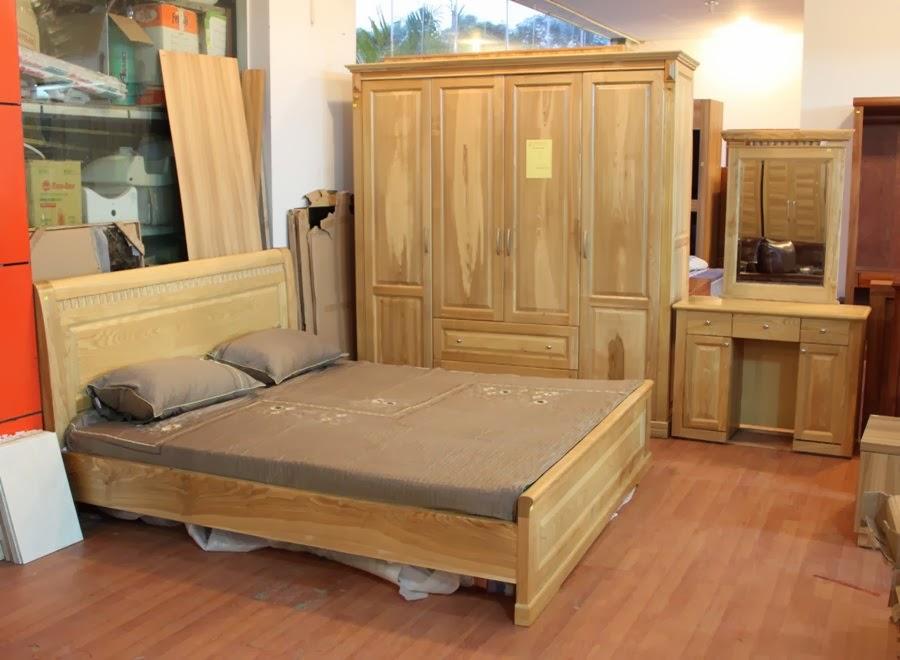 Giường ngủ gỗ nhà nghỉ xoan đào giá tốt