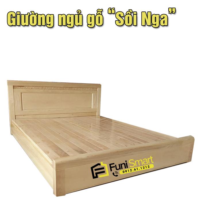 Giường ngủ gỗ sồi Nga FNGN30