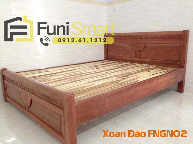 Giường ngủ gỗ xoan đào hiện đại FNGN02 hàng đặt