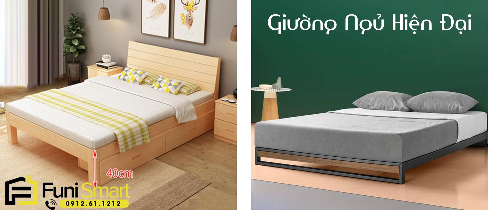 Giường ngủ hiện đại đẹp theo xu hướng