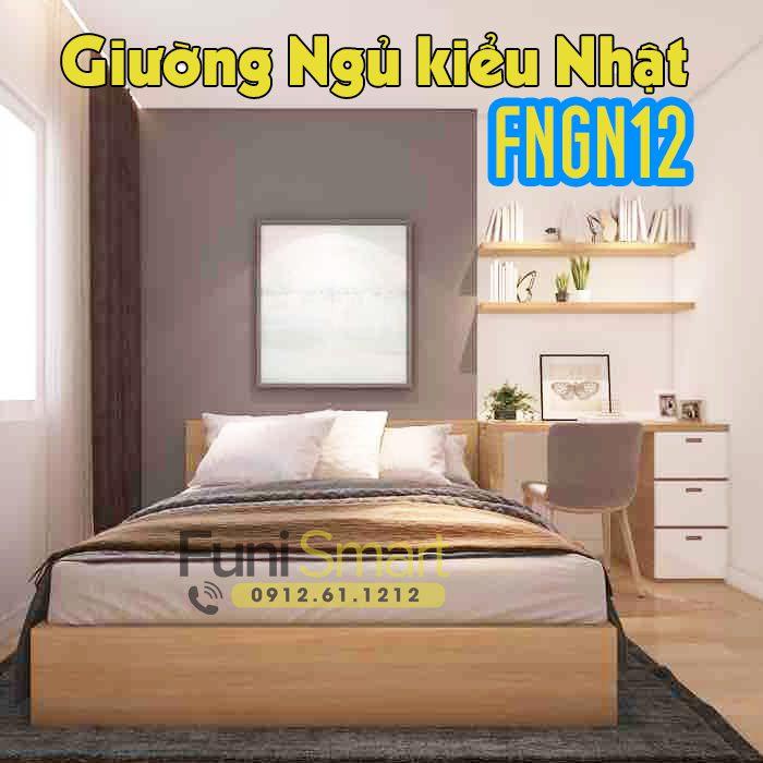 Giường ngủ kiểu Nhật Bản Funismart FNGN12 hiện đại