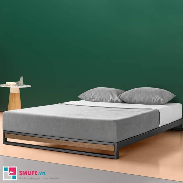 Giường ngủ sắt lắp ráp hiện đại