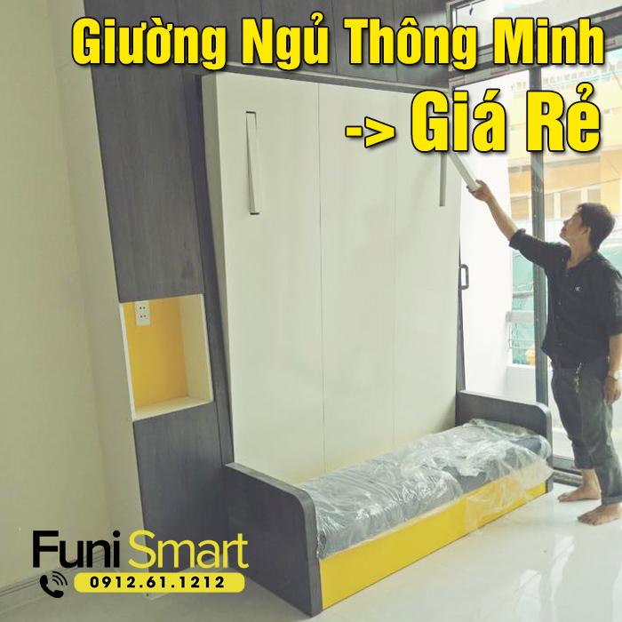 Giường ngủ thông minh giá rẻ funismart fngn28