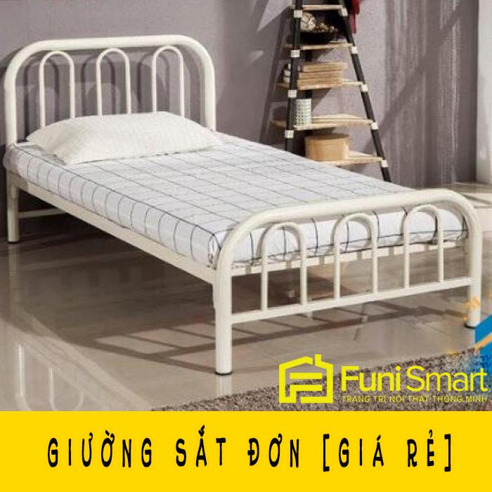 Giường sắt đơn giá rẻ đủ màu fngn28