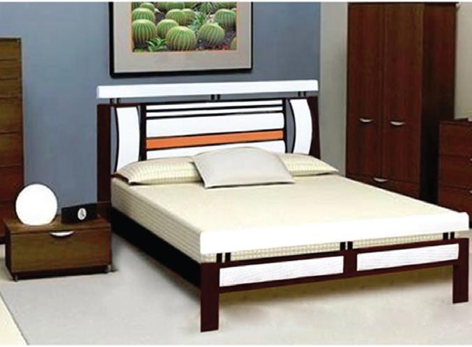 Giường sắt giá rẻ kiểu giả gỗ 1 triệu sắt hộp
