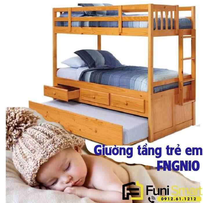 Giường tầng trẻ em gỗ tự nhiên FNGN10