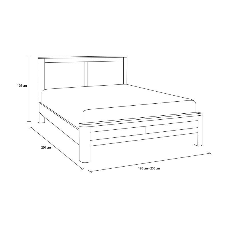 Kích thước giường ngủ gỗ sồi giá tốt