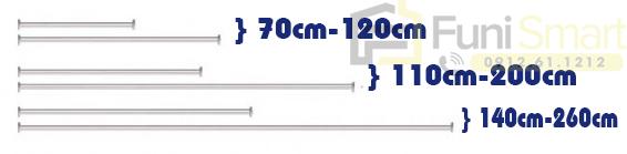 Kích thước thanh treo quần áo inox gắn tường FNGP23