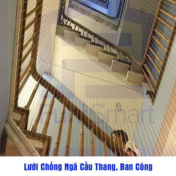 【Báo Giá Chi Tiết】Dịch Vụ Lắp Lưới Chống Ngã Cầu Thang, Ban Công.