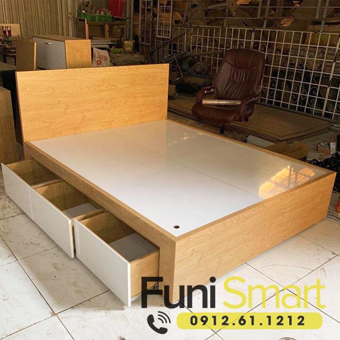 Mẫu giường cưới gỗ đẹp FNGN08