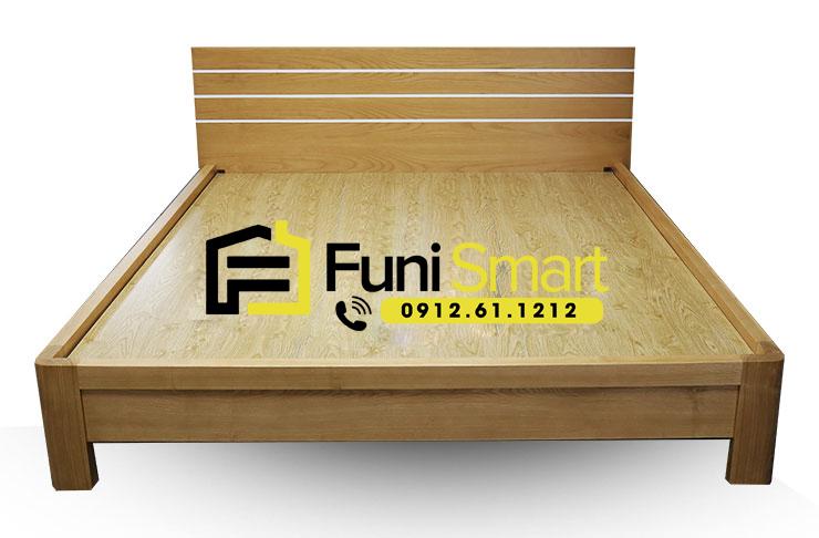 Mẫu giường gỗ đẹp đơn giản MDF phủ Melamine