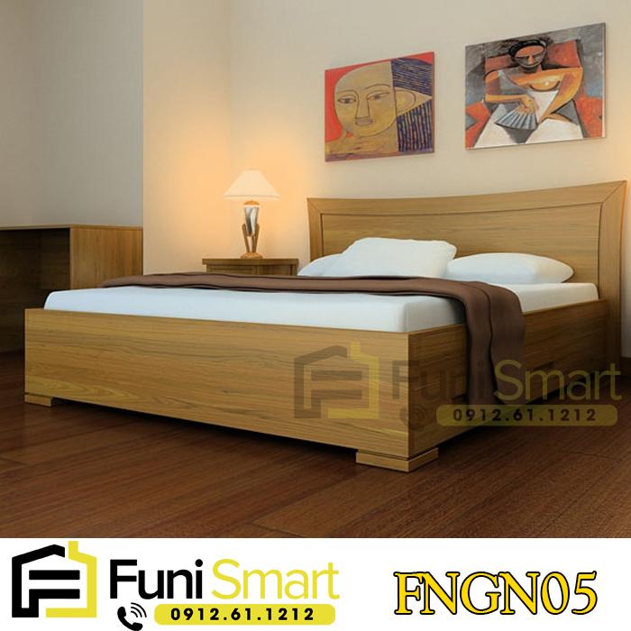 Mẫu giường gỗ đẹp đơn giản FNGN05 chất liệu MDF