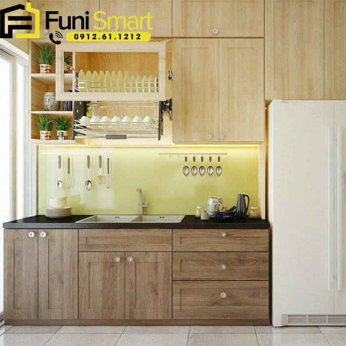 Mẫu tủ bếp gỗ tự nhiên đẹp tại Funismart
