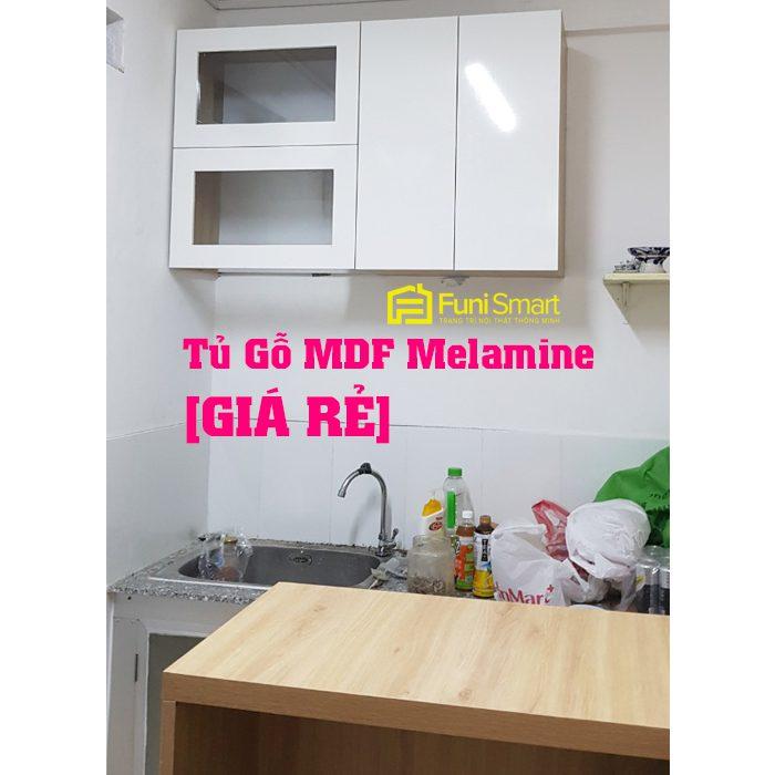 Mẫu tủ bếp mdf phủ melamine giá rẻ nhất thị trường
