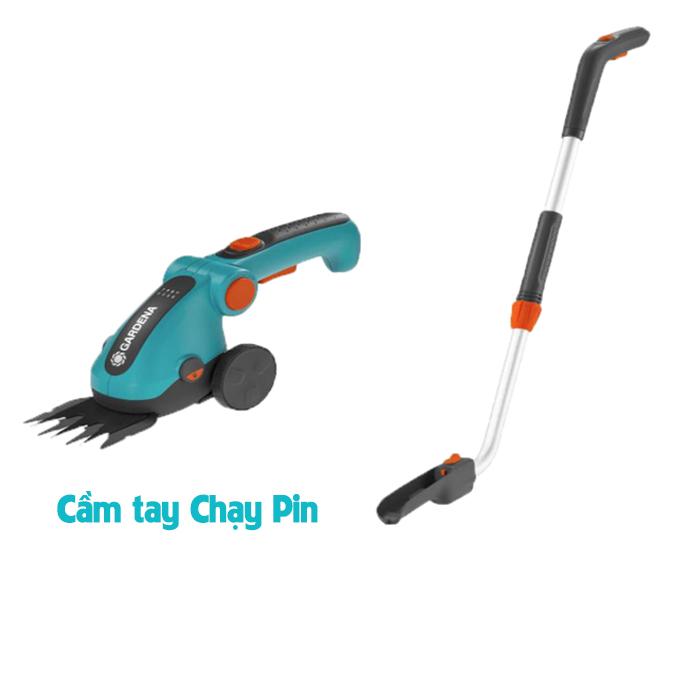 Máy cắt cỏ cầm tay chạy pin kèm cán đẩy Gardena 09858-20