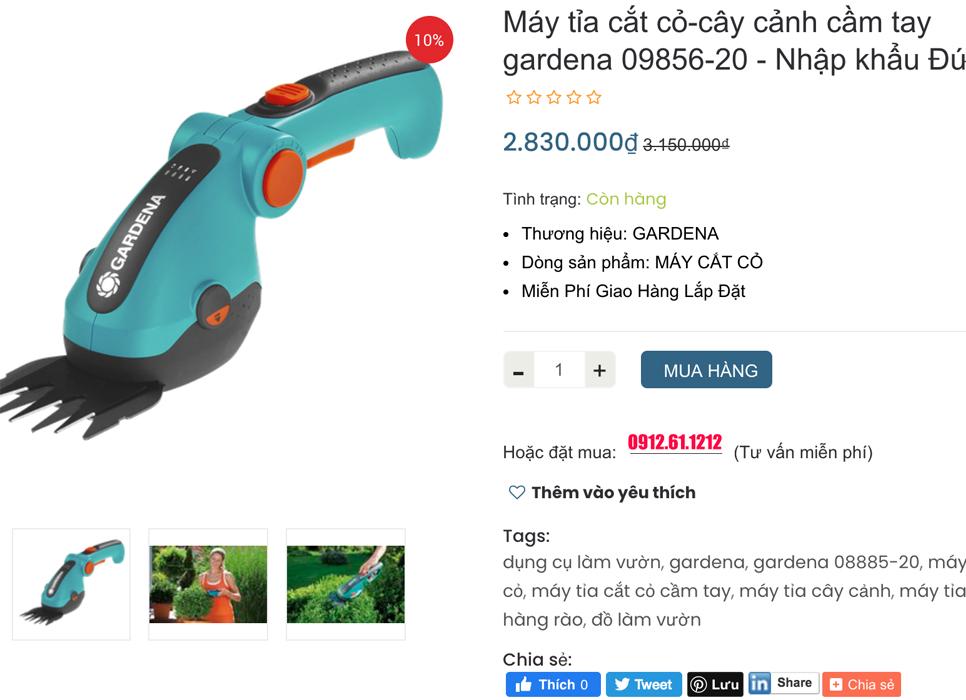Máy cắt cỏ cầm tay chính hãng nhập khẩu Đức
