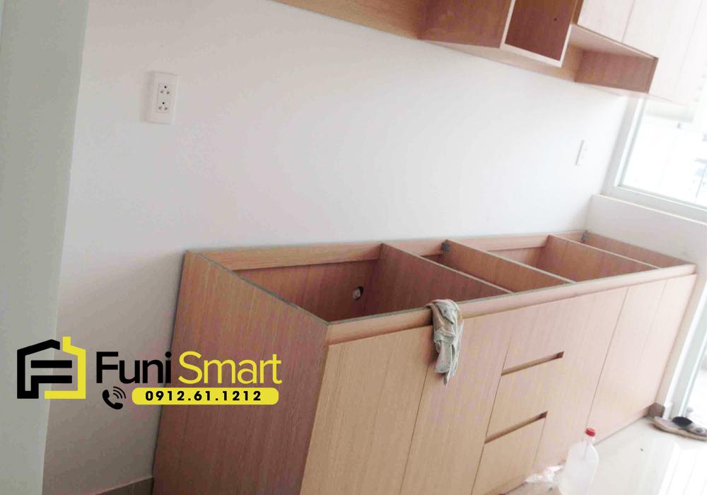 Funismart nhận thiết kế tủ bếp nhỏ giá rẻ theo yêu cầu