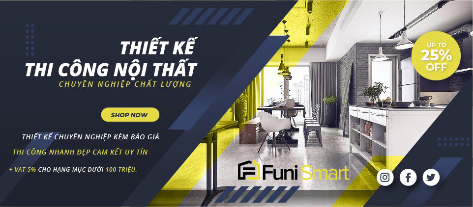 Thiết kế và thi công nội thất chuyên nghiệp cùng Funismart