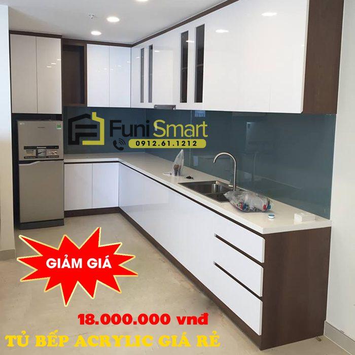 Tủ bếp Acrylic giá rẻ Funismart mã FNTB03