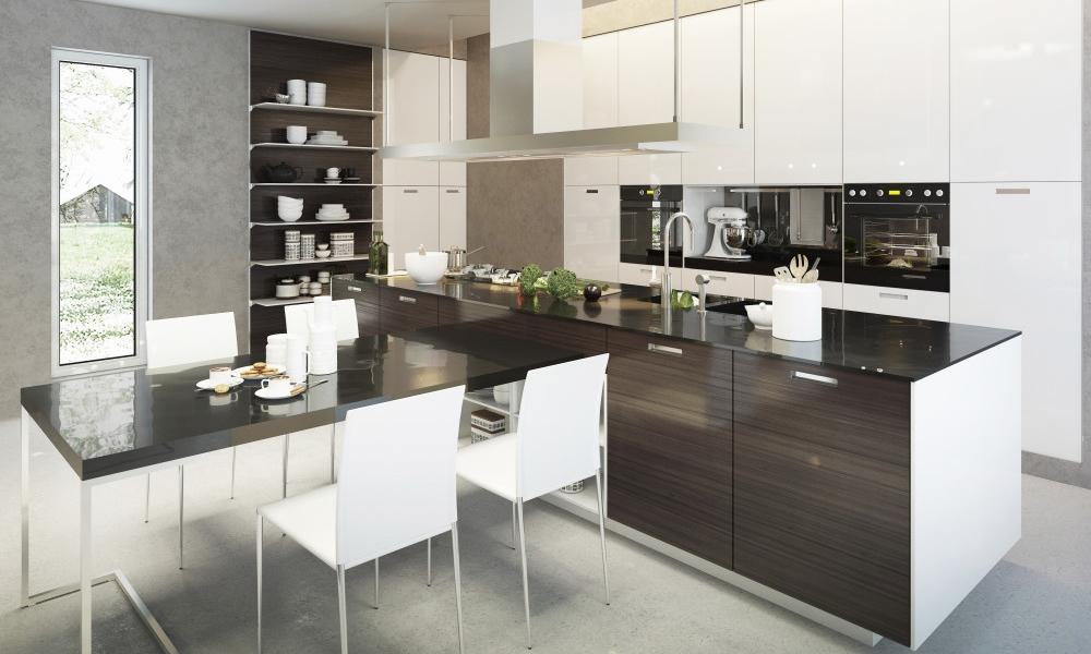 Tủ bếp Acrylic giá rẻ FNTB03