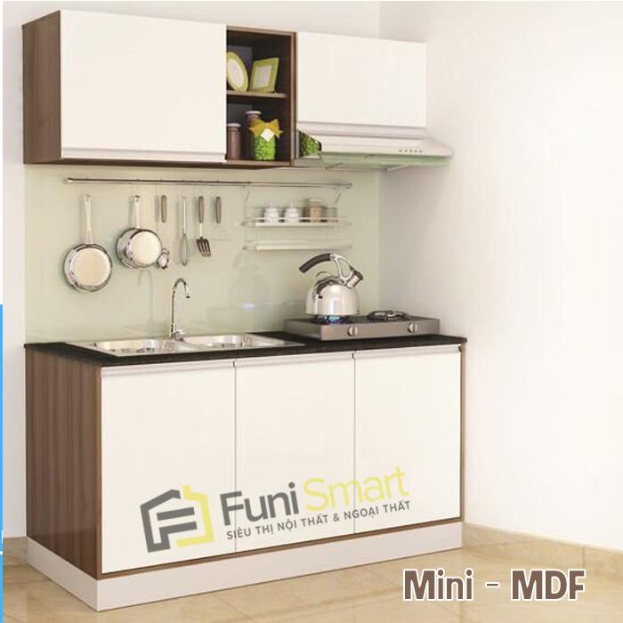 Tủ bếp mini đẹp MDF giá tốt
