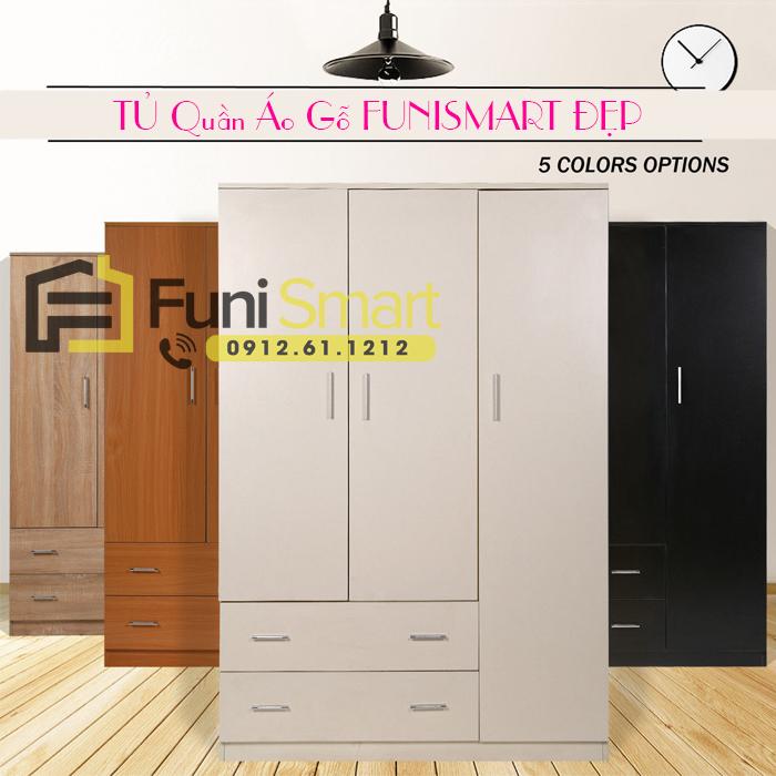 Tủ quần áo gỗ đẹp Funismart